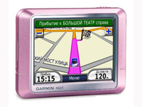 GPS-Навигатор Garmin Nuvi 200 Pink Metallic Russian (СЗФО и ЦФО) ДР 5.03